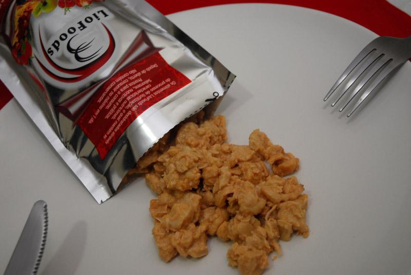 Comida liofilizada
