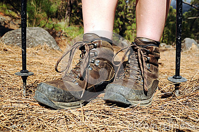 hiking-woman-with-trekking-boots-on-the-trail-thumb252702611