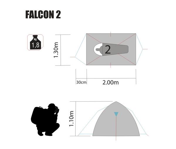 Barraca Falcon 2 Nautika medidas